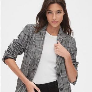 Women's GAP Modern Plaid Blazer